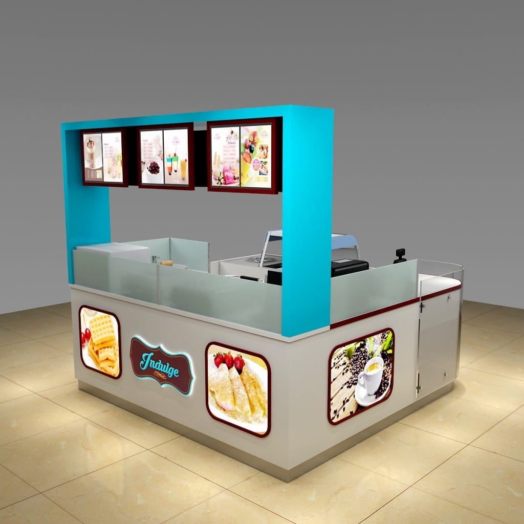 Unique Design Shopping Mall Ice Cream Kiosk For Sale