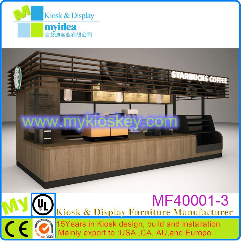 Wooden Coffee Kiosk customize and design for sale | Mall Kiosks