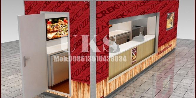 outdoor food kiosk, fast food kiosk design for sale