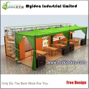 Outdoor food container kiosk