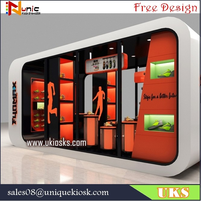 Shoes Display Showcase Shoes Kiosk Design In Mall For Sale