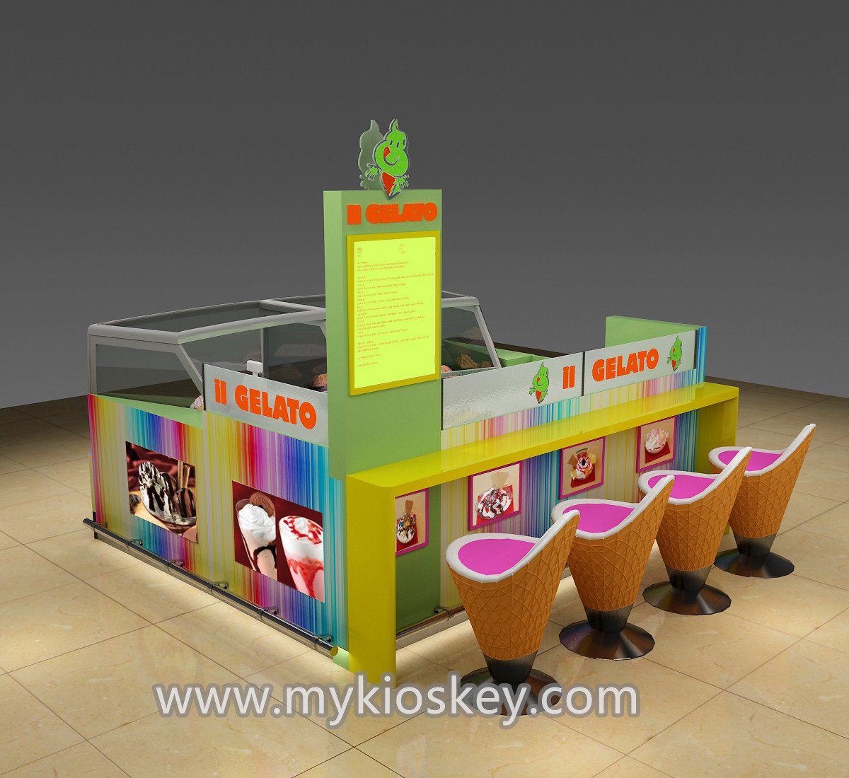 High Quality Beautiful Food Cart Design For Outdoor