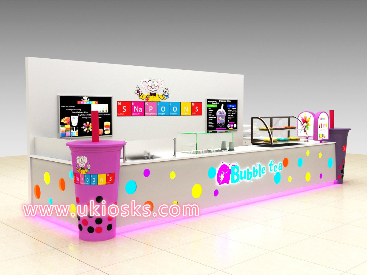 Bubble Tea Kiosk Design In Mall For Sale