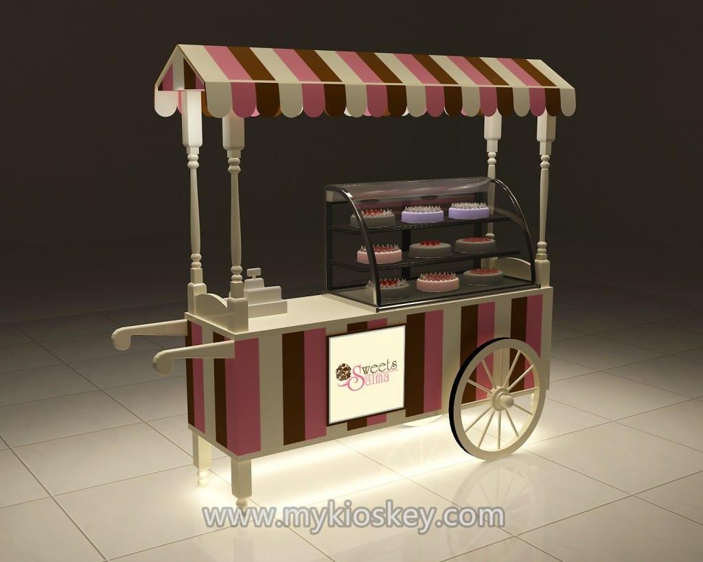Ice cream cart with wheels for sale | Mall Kiosks | Food Kiosks