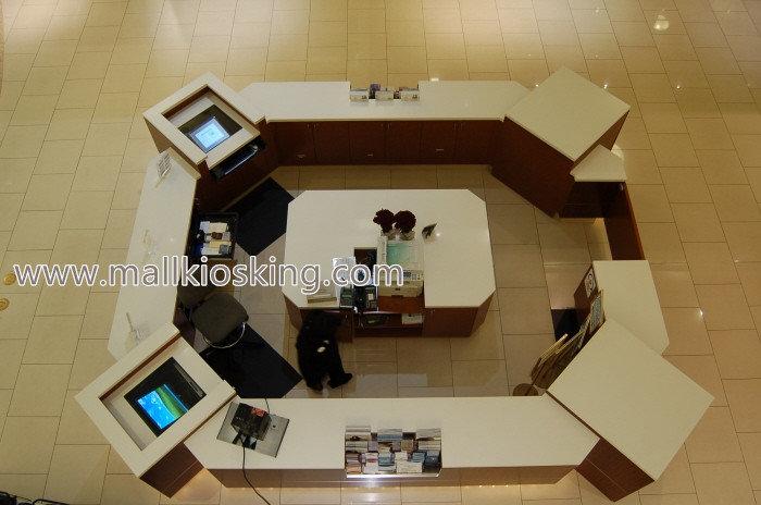 corian stone reception bar counter in shopping mal