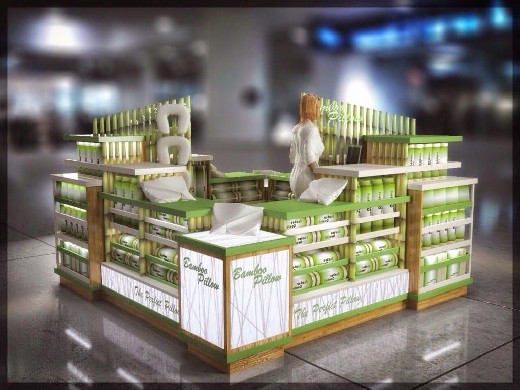 Bamboo Pillow Kiosk Unique Mall Kiosk Design For Heathy