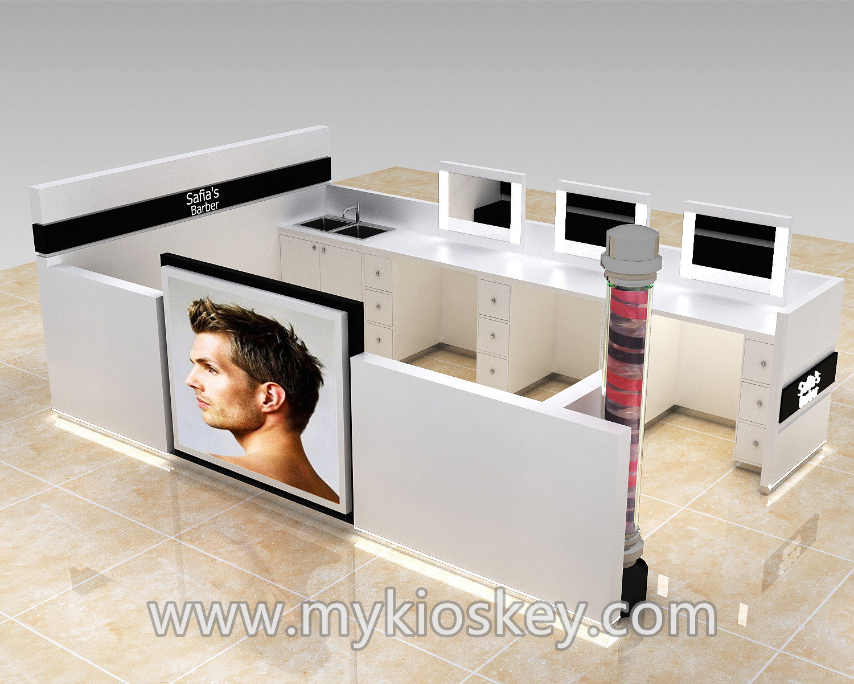 Customized Barber Shop Kiosk Design For Hair Beauty Mall