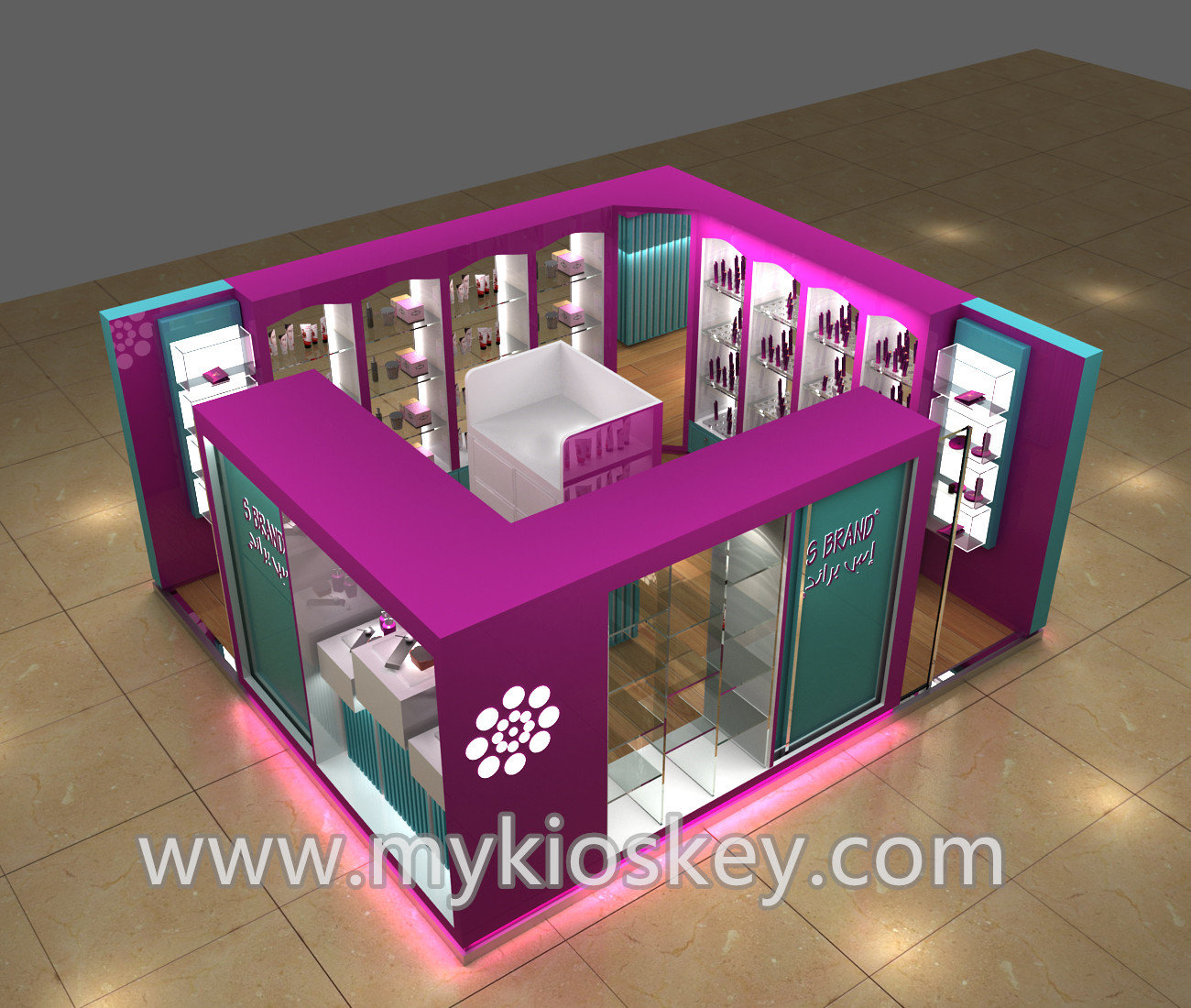 Cosmetic Display Counter Design For Cosmetics Display