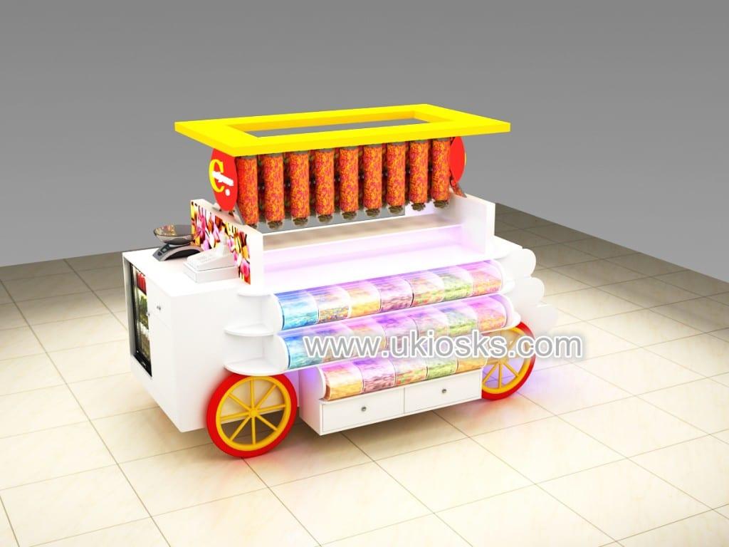 wood candy cart