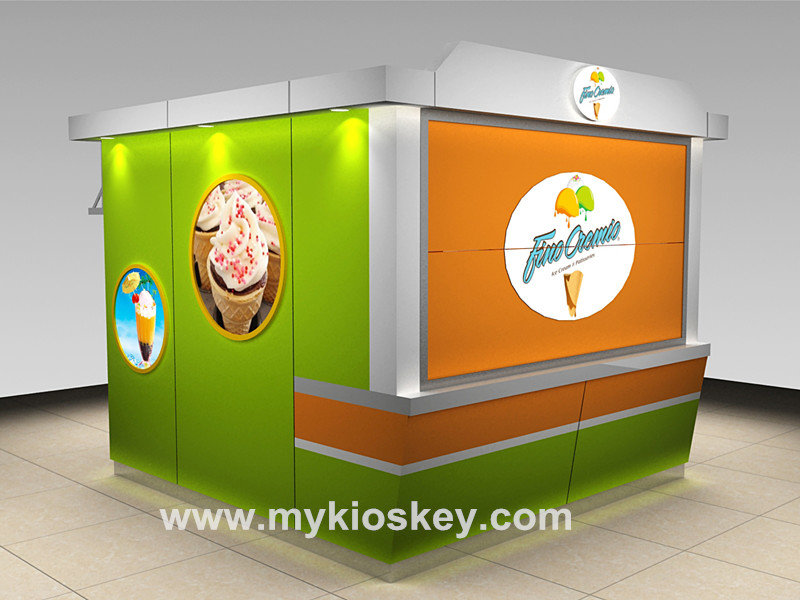 outdoor kiosk for ice cream