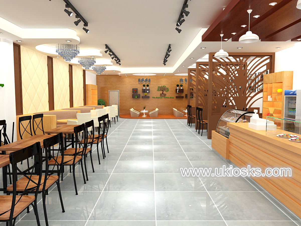 high end fast food kiosk shop design for sale