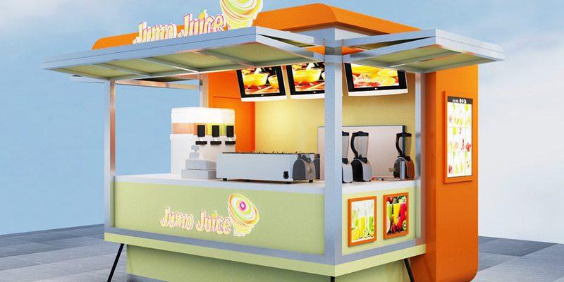 waterproof jumo juice food kiosk and durable outdoor kiosk