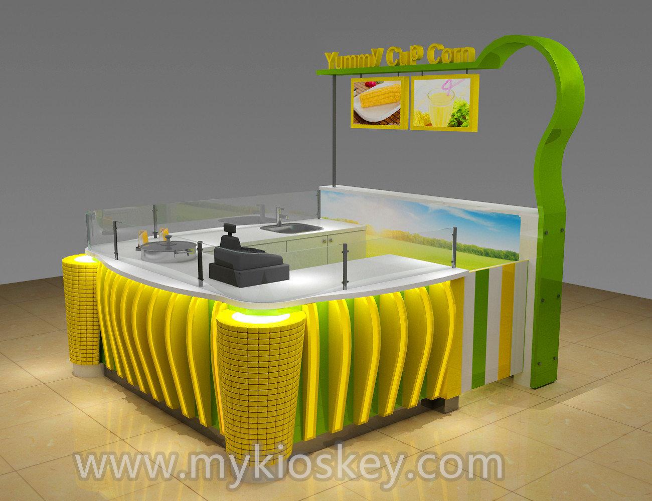 High end mini sweet corn kiosk design for sale for Designs for sale