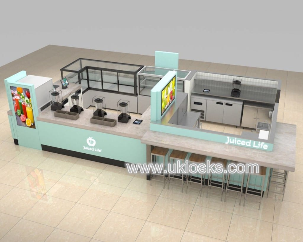 shopping mall ice cream kiosk