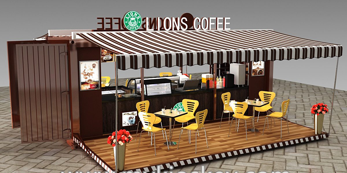 Hydraulic Opening 20gp Container Coffee Shop Design For Share
