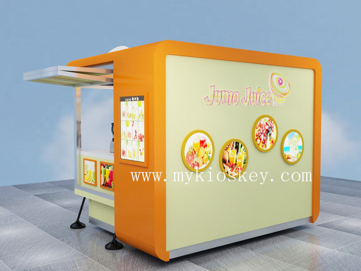 Factory customize outdoor mobile juice kiosk for sale for Mobili kios