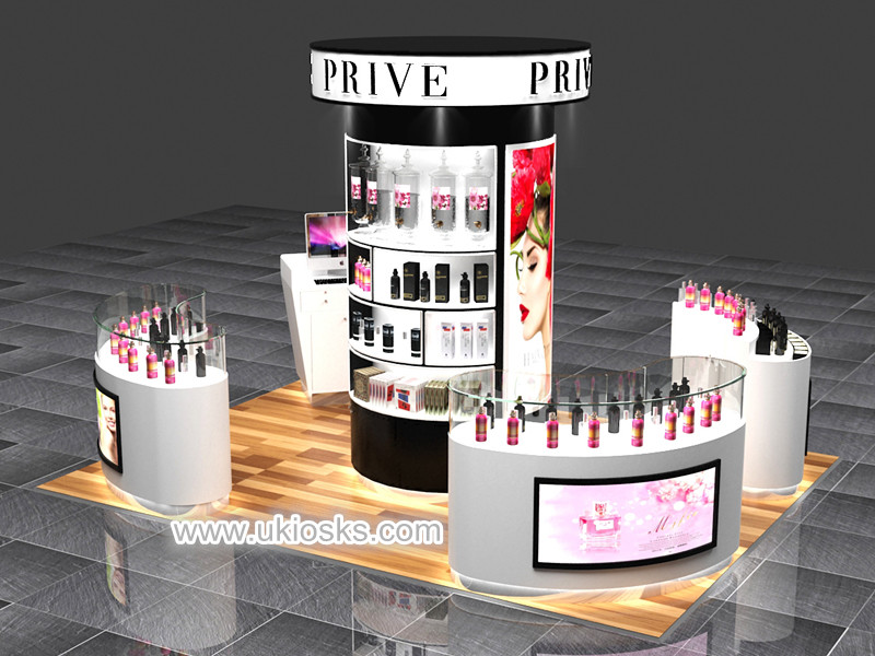 High End Perfume Display Kiosk Cabinet For Mall