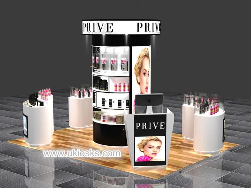 perfume display kiosk