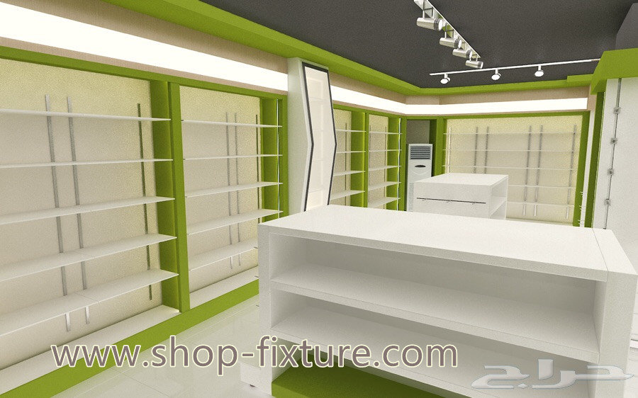 Factory Customized Wood Pharmacy Showcase Counter Designs