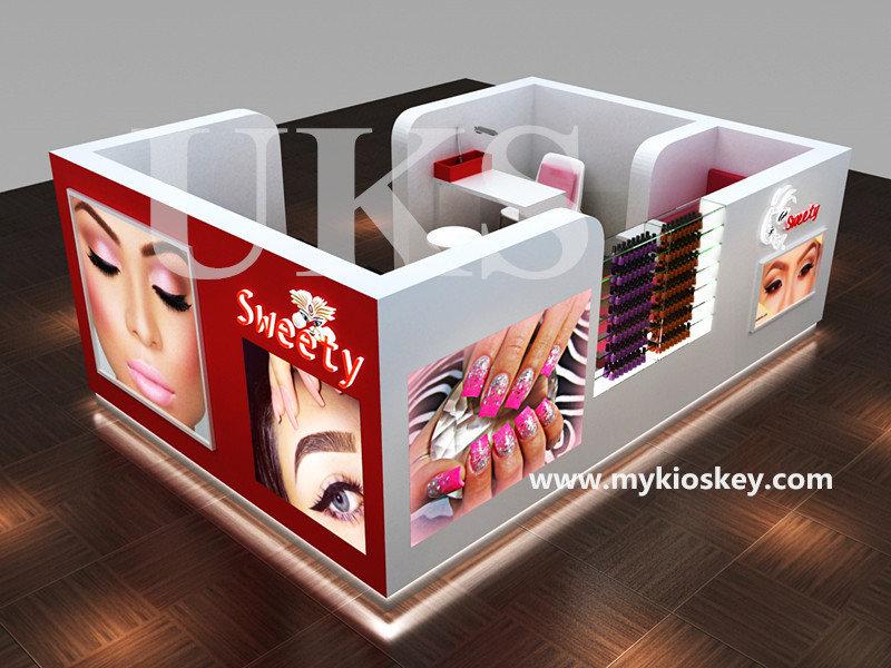 eyebrow threading kiosk