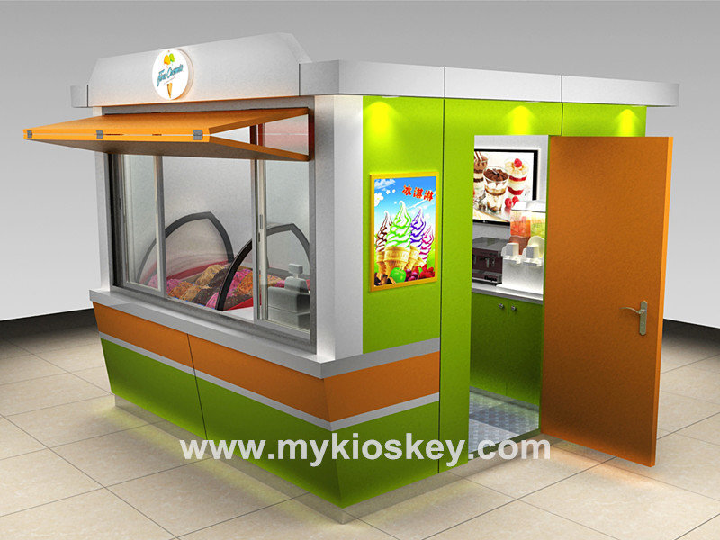 outdoor ice cream kiosk