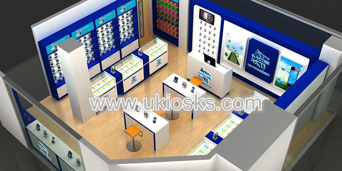 High End Customized Phone Repair Shop Design Cell Phone Shop Display Showcase For Sale
