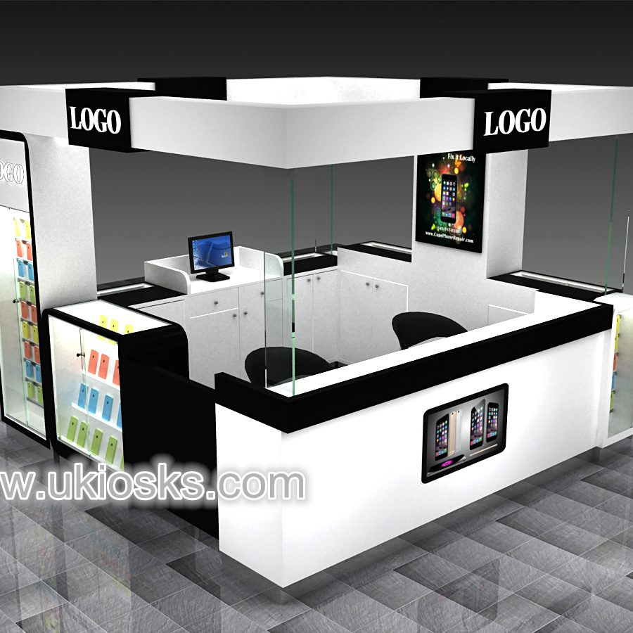Modern Mobile Shop Counter Design Cell Phone Display Showcase Cell