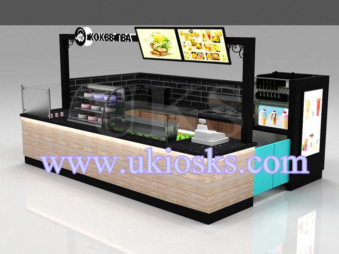 Mall Bubble Tea Counter And Bubble Tea Kiosk Design With