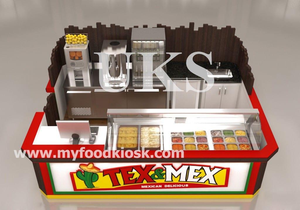 fast food vending kiosk