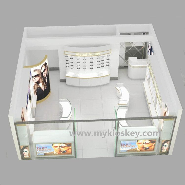 Modern Optical Store With Glasses Display Stand Decoration Design