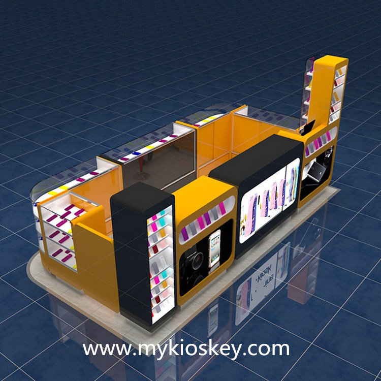 cell phone accessories display booth