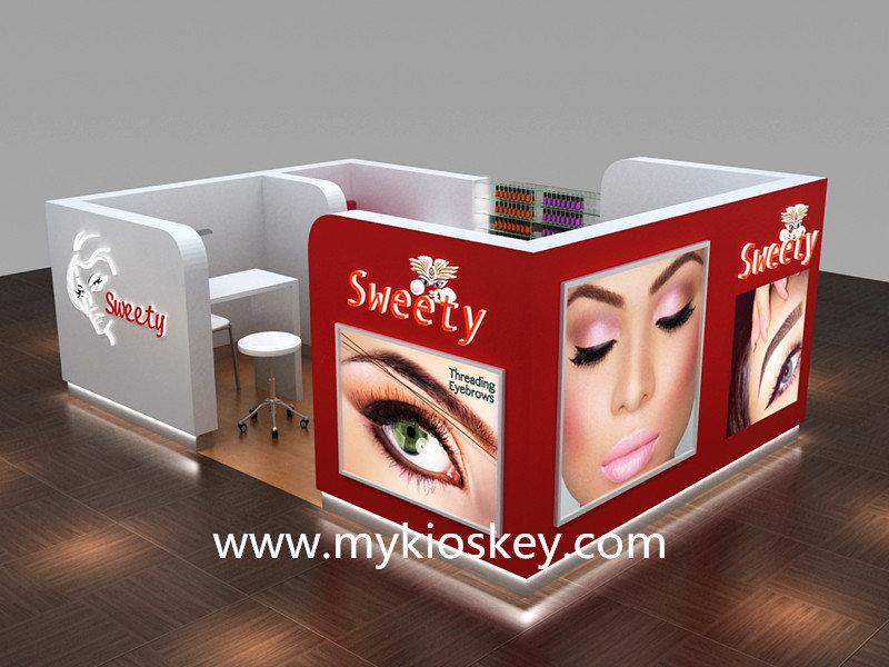 Interior Design For Beauty Salon Eyebrow Threading Store Brow Bar Kiosk