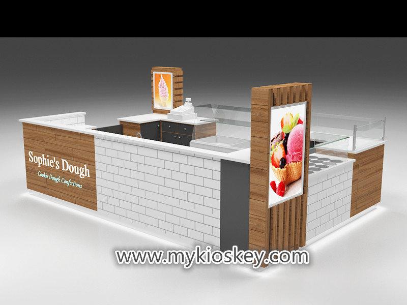 mall gelato kiosk