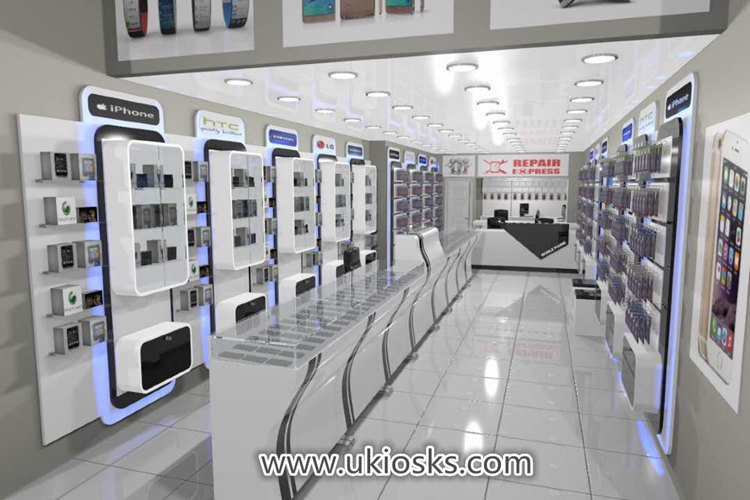 Myidea Custom Cell Phone Accessories Showcase Display Mobile Phone Shop Interior Decoration