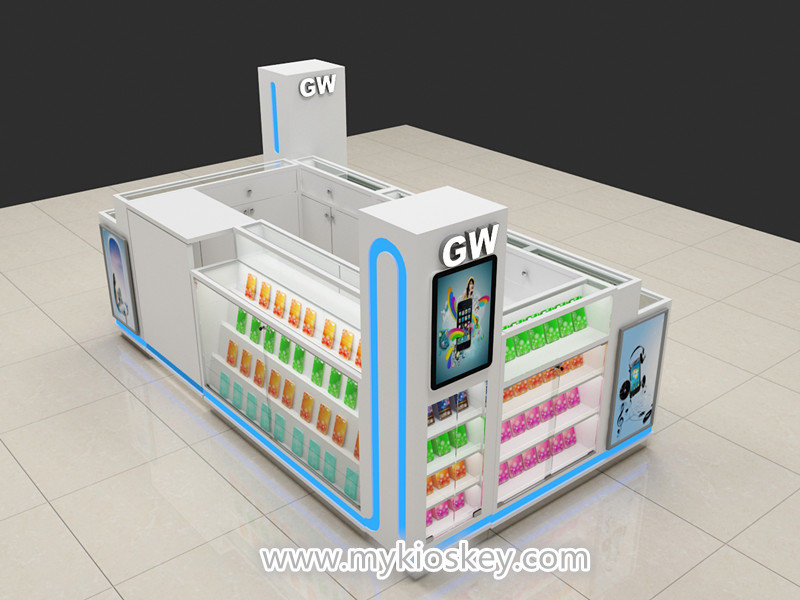 cell phone display showcase