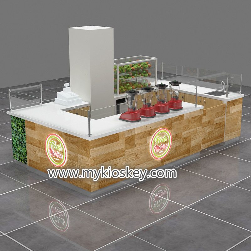 newest style salad bar kiosk, smoothies display counter ...