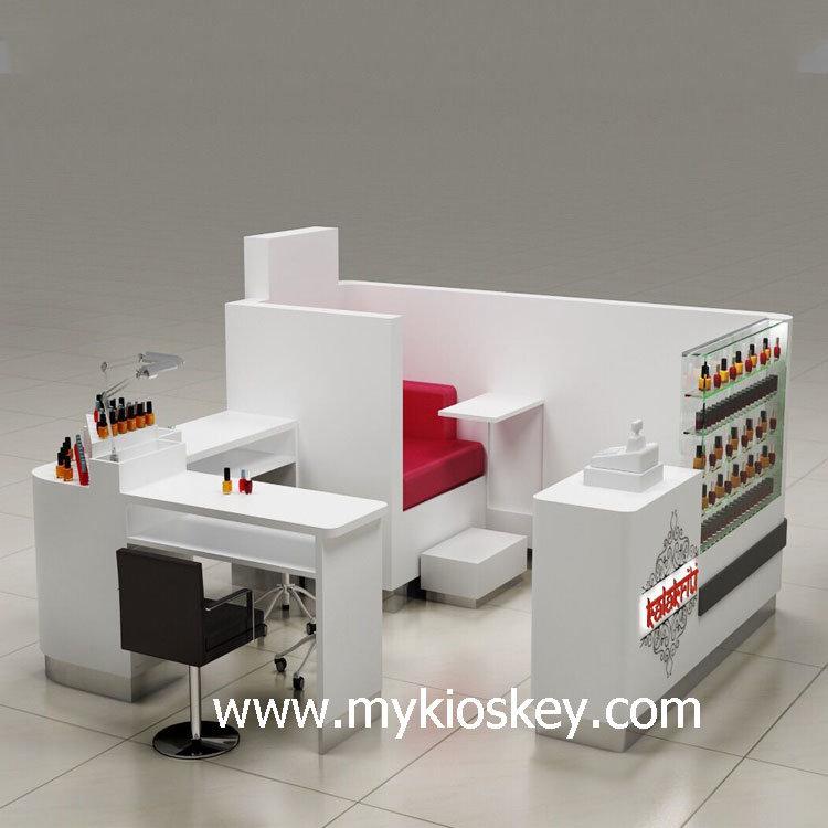 nail bar kiosk for manicure