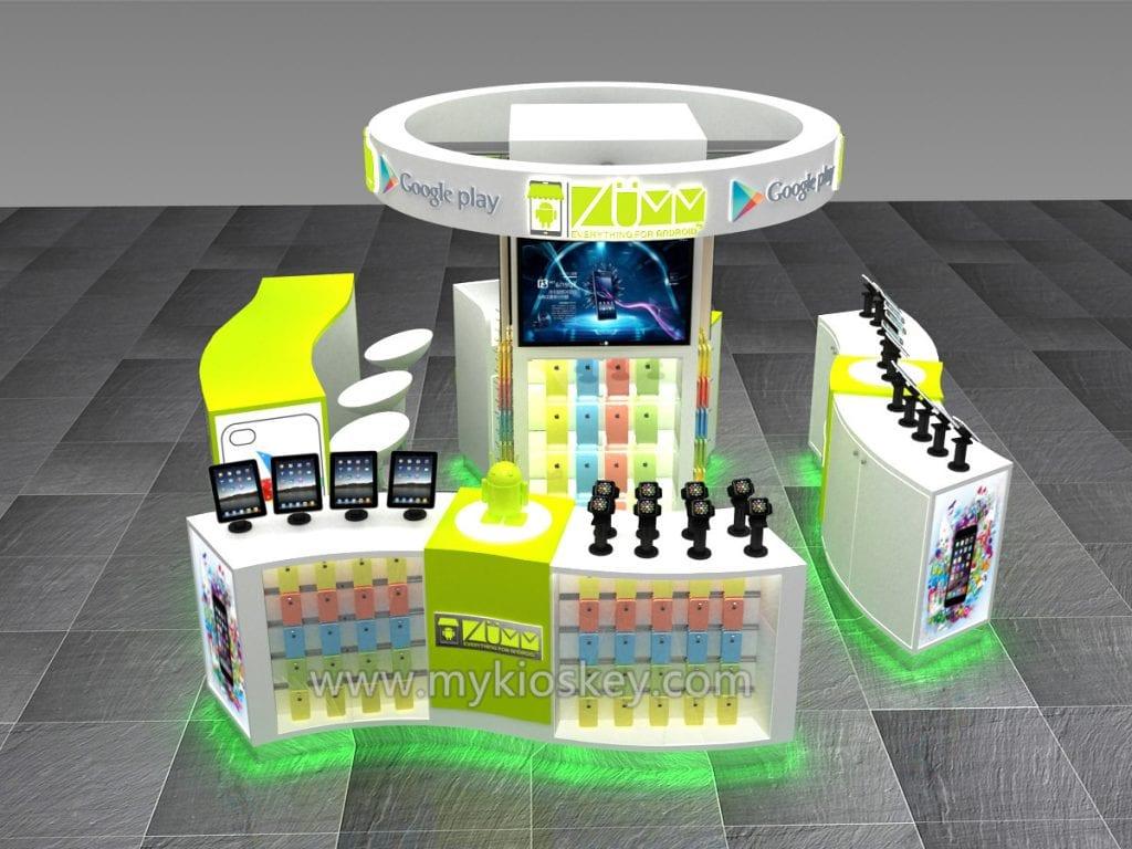 cell phone exhibition kiosk
