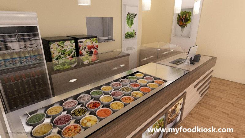 Modern Retail Fast Food Shop Interior Furniture Design For Sale