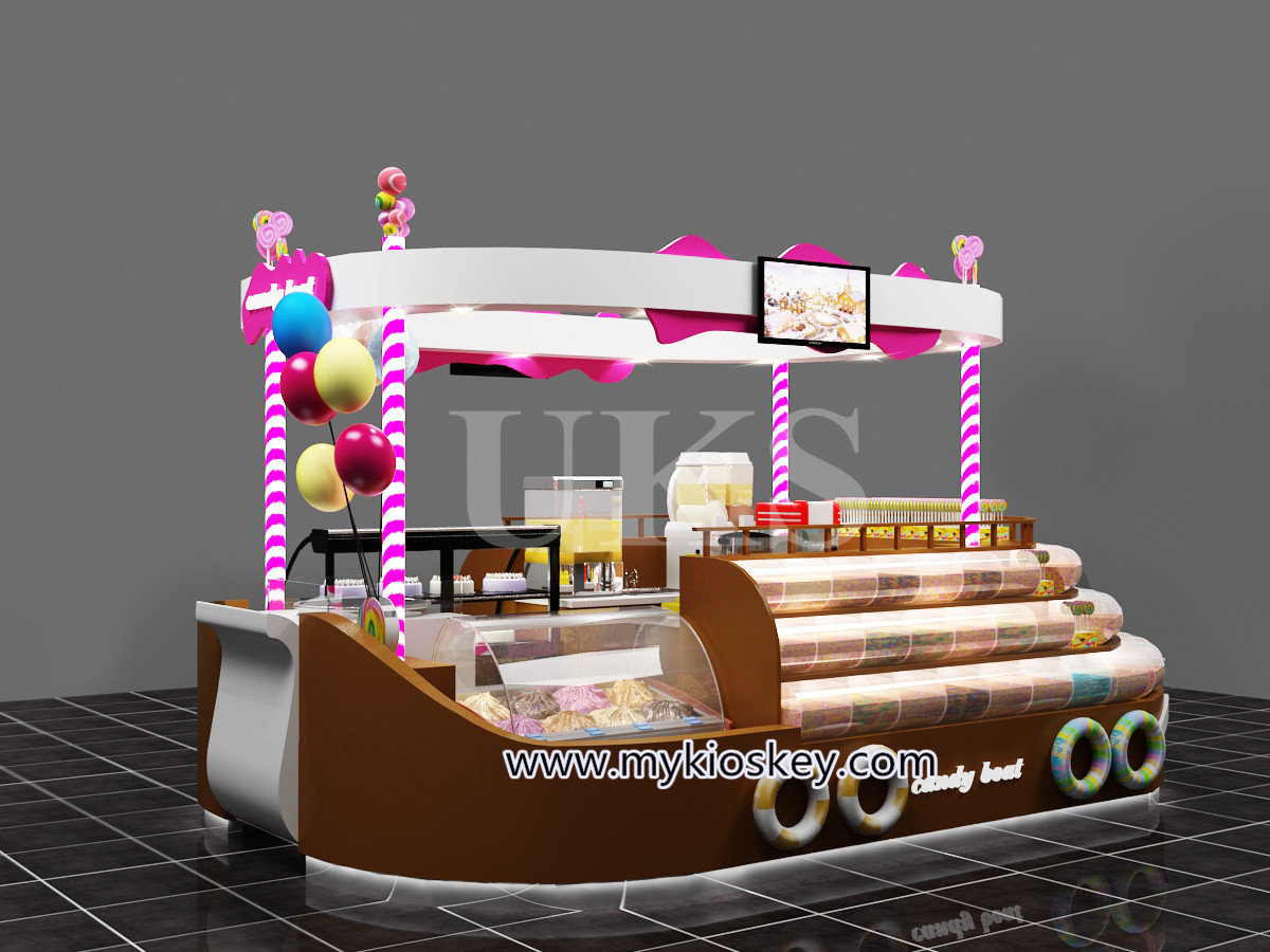 Unique Candy Kiosk Design Drawings For Mall Retail Candy Stand