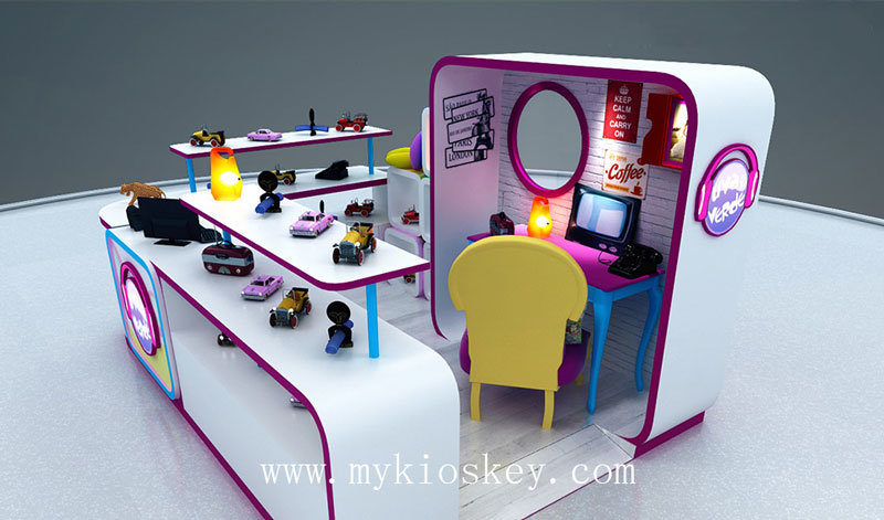 Sugar Sweet Candy Display Stand Cotton Candy Kiosk For Sale