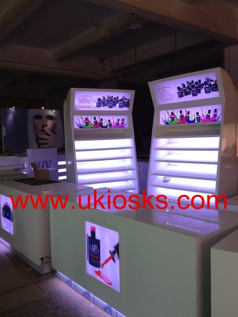 nail polish exhibition booth