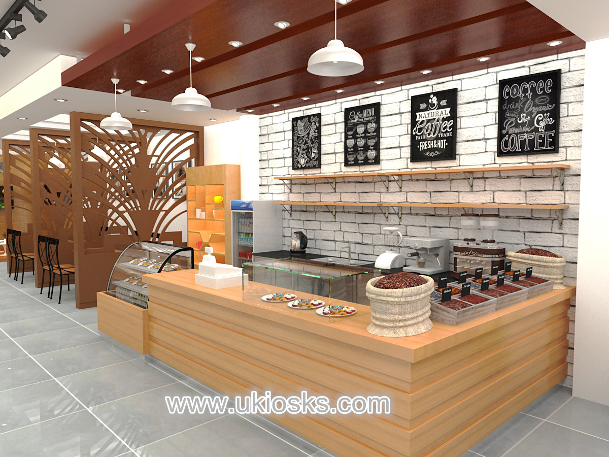 Best Selling Coffee Shop With Wooden Counter Furniture Design