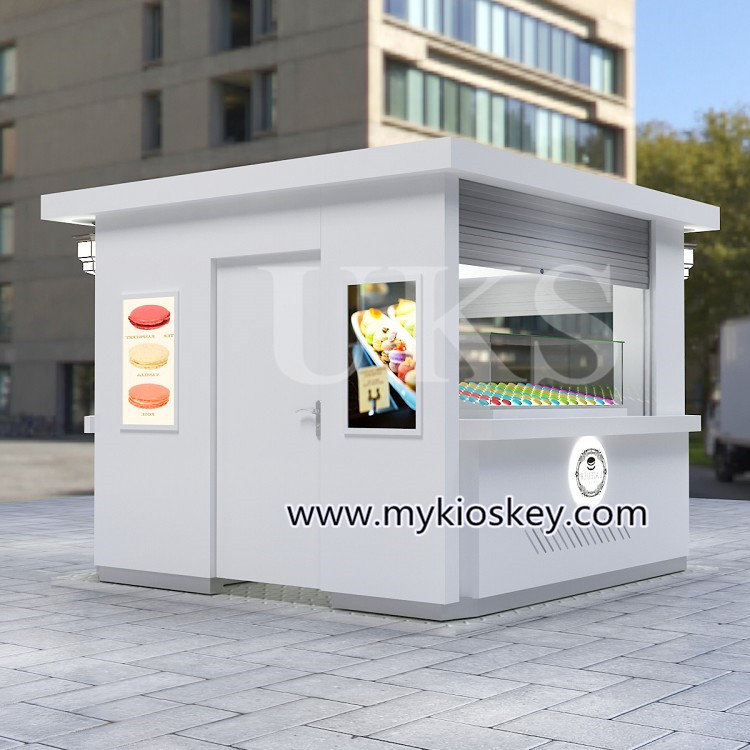 10*10ft elegant macaron outdoor kiosk design in hot sale