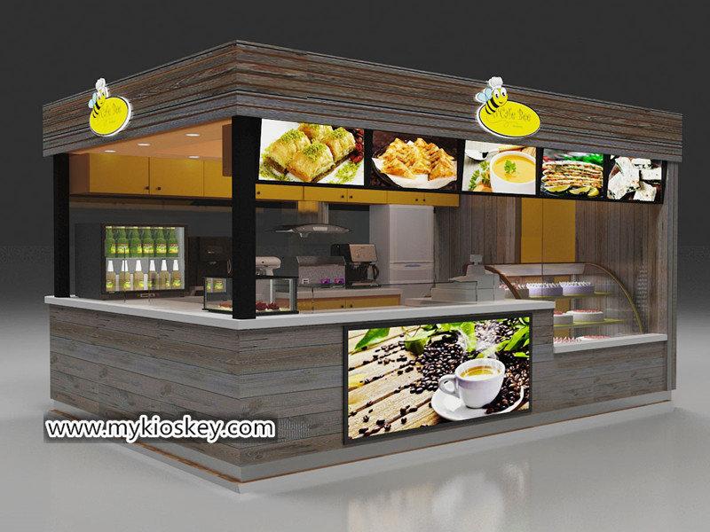 rolled ice cream kiosk