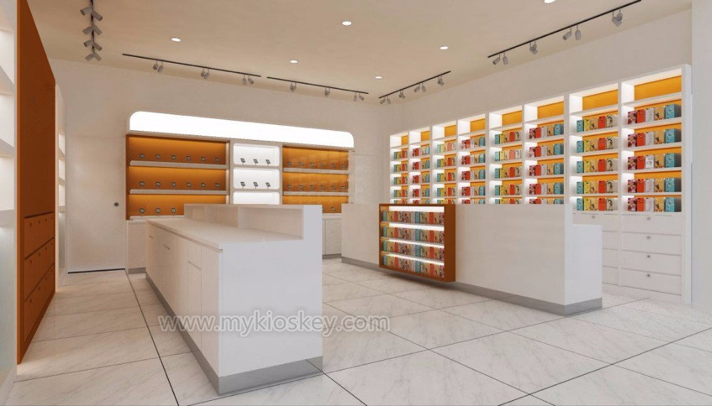 Wooden Customized Mobile Phone Shop Interior Design