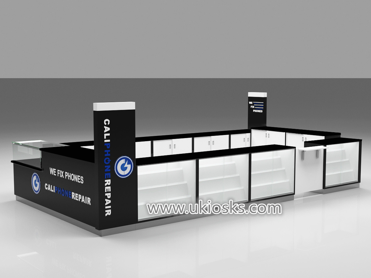 Black And White Color Phone Accessories Kiosk Design