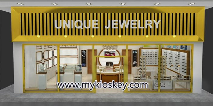 Big shop gold jewelry shop furniture is exported to Africa