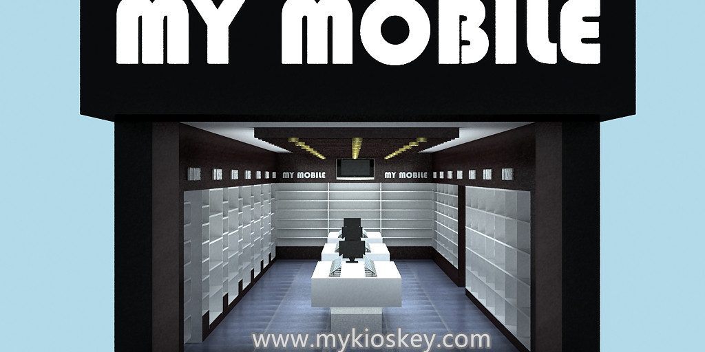Modern Mobile Phone Shop Interior Design Phone Counter Furniture For Sale