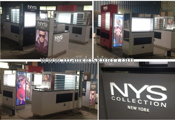 real production photos to see sunglasses display kiosk